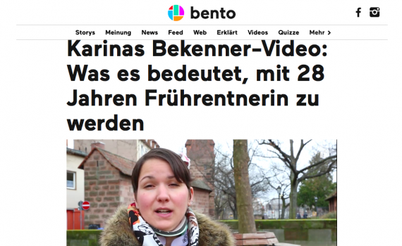 Bekennervideo Bento Ehlers-Danlos-Syndrom