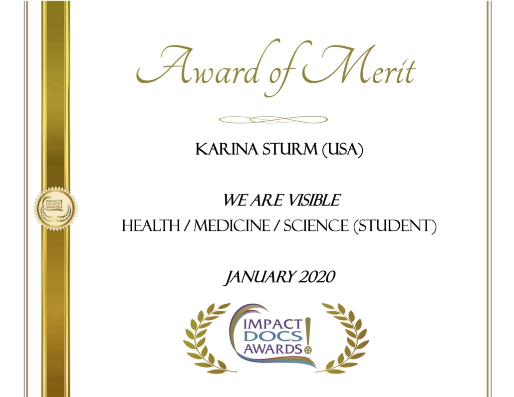 Impact Docs Award of Merit, We Are Visible, Health, Medicine, Science