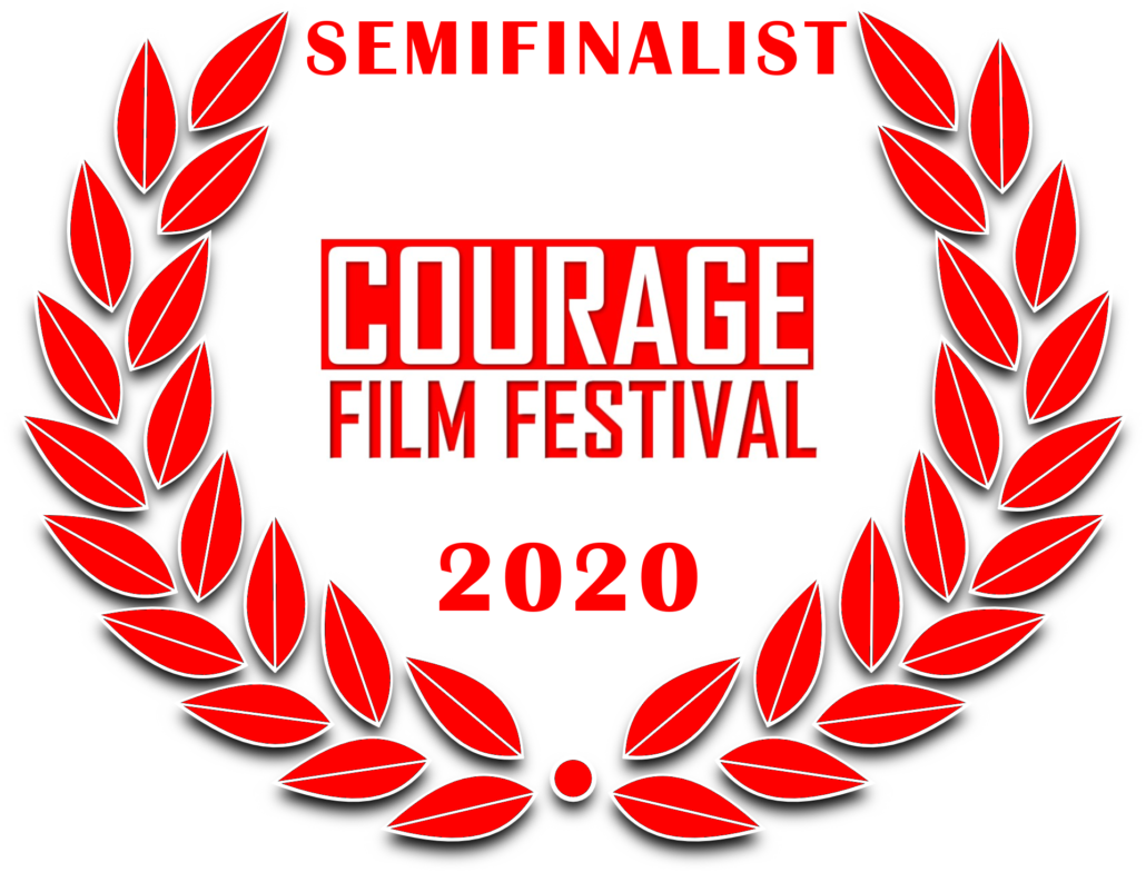a red film festival laurel: Semifinalist Courage Film Festival 2020